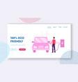 eco transport website landing page man charging vector image
