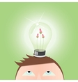 Ecology green Light Idea Bulb vector image