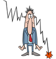 economic crisis cartoon vector image