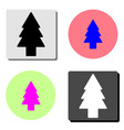 fir tree flat icon vector image vector image