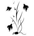 fish and algae vector image vector image