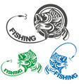 fish carp and fishing logo vector image