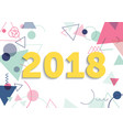 flat postcard new year 2018 vector image vector image