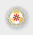 flower with petals blossom origami style icon vector image