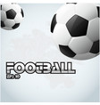 football text two ball background image vector image vector image