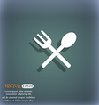 Fork and spoon crosswise Cutlery Eat icon sign On vector image vector image
