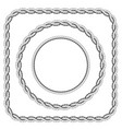 frames of twisted rope with rounded corners vector image vector image