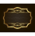 Golden frame for placing your picture or text vector image vector image