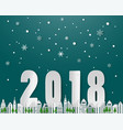 happy new year on winter seasonsnowflake vector image