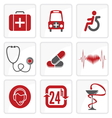 Heath Care icons vector image vector image