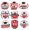 high school and college graduation off to school vector image vector image