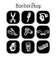 Icons barber shop elements in the style chalk vector image