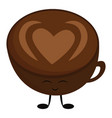 image coffee love - cup coffee or color vector image