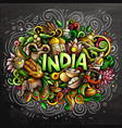 india hand drawn cartoon doodles vector image vector image