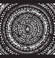 ink decorative mandala in african style vector image vector image