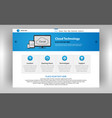 internet page of cloud technologies vector image