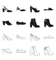 isolated object of footwear and woman logo vector image vector image