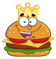 King Burger Cartoon vector image vector image