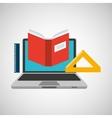 learn online school book ruler vector image vector image