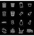 line garbage icon set vector image vector image
