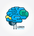 Logo brain template Brain distortion concept vector image vector image