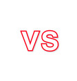 logo vs red color with shadow stylish vector image vector image