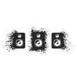 loudspeakers set collection black sound vector image