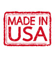 made in usa rubber stamp text vector image