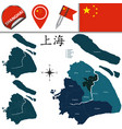 map of shanghai with districts vector image vector image