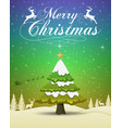 merry christmas and happy new year 2019 typograph vector image vector image