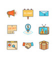 minimal lineart flat marketing iconset vector image vector image