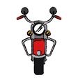 motorcyle speed transport steel sketch vector image vector image