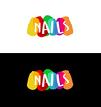 Nails colorful logo vector image vector image