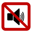No speaker volume sign vector image vector image