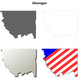 Okanogan Map Icon Set vector image vector image