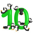 ordinal number 10 for teaching children counting vector image vector image