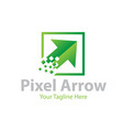 pixel arrow business logo designs vector image vector image