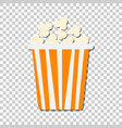 popcorn icon in flat style cinema food on vector image