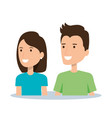 portrait couple character of young man and woman vector image vector image
