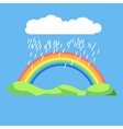 Rainbow icon flat LGBT concept image vector image