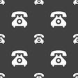 Retro telephone handset icon sign Seamless pattern
