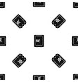 safety deposit box pattern seamless black vector image vector image