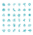 set floral icon in flat design vector image vector image