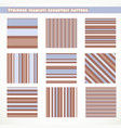 set stripped seamless geometric pattern in vector image vector image