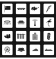 Singapore icons set in simple style vector image vector image