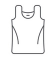 singlet thin line icon clothes and casual shirt vector image