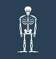 skeleton sad emoji skull emotion sadness human vector image vector image