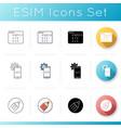 software developer elements icons set vector image vector image