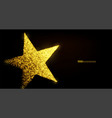 star banner background design with glowing vector image