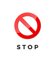 stop icon for web and app ban sticker pictogram vector image